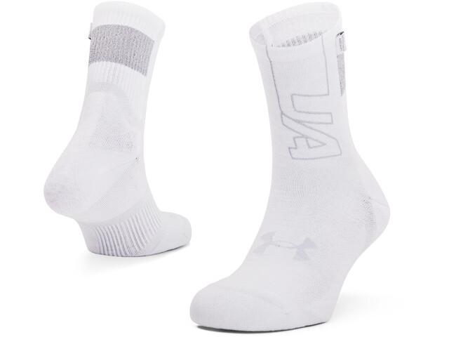 Under Armour Armourdry Run Crew Socks, white-halo-gray-mod-gray